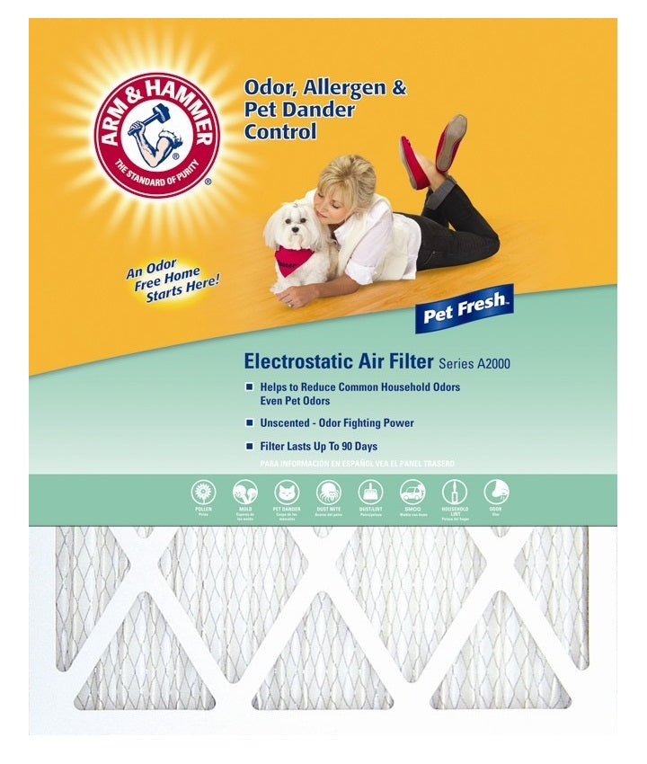 "Arm & Hammer AFAH1430 Pet Fresh Pet Protection Air Filter, 14"" x 30"" x 1"""