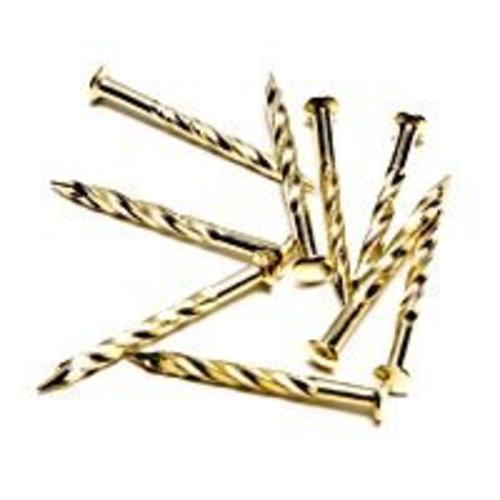 M-D Building 21485 Carpet Screw Nail, Brass, 1-1/4""