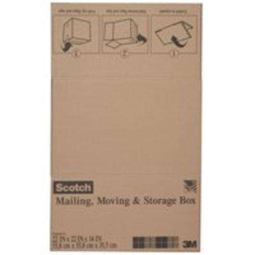 "Scotch 8022FB Folded Shipping Box, 22""x22""x14"""