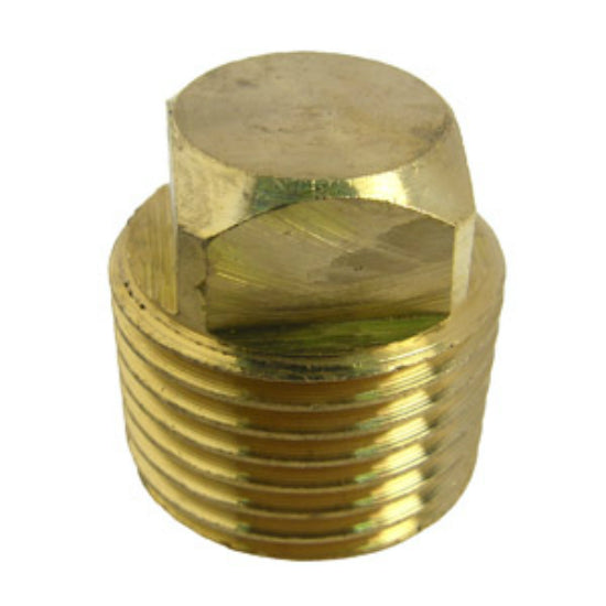"Lasco 17-9179 Lead Free Square Head Plug, Brass, 1/2"" MPT"
