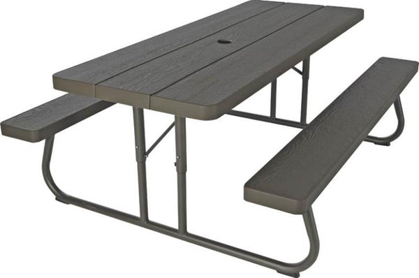 Lifetime 60110 Folding Picnic Table, 6-Foot, Brown