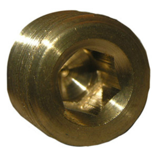 "Lasco 17-9195 Lead Free Brass Countersunk Plug, 3/8"" MPT"