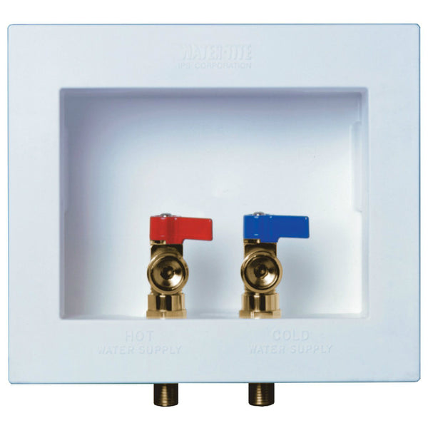 Water-Tite® 82052 DU-ALL™ Dual Drain Washing Machine Outlet Box w/Connection Valve