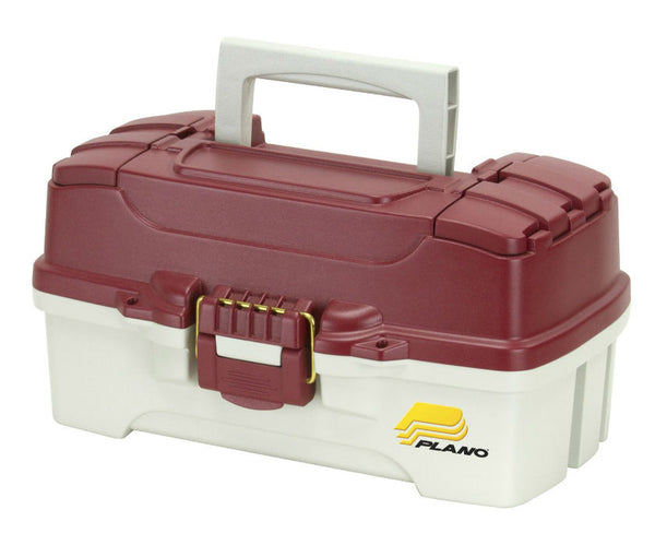 Plano® 620106 One Tray Tackle Box, Red Metallic/Off White