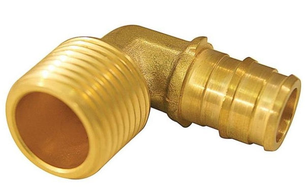 Apollo EPXME125PK Pex Pipe Elbow, Brass, 1/2""