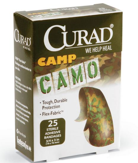 Curad CUR45701 Camouflage Bandages, Green
