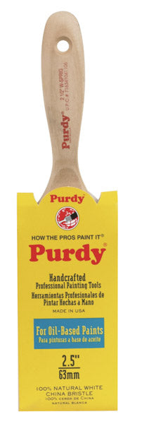Purdy 144380425 White Sprig Flat Paint Brush, 2.5""