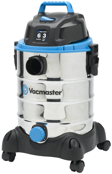 Vacmaster VQ607SFD Stainless Steel Wet/Dry Vacuum, 6 Gallon, 3 Peak HP