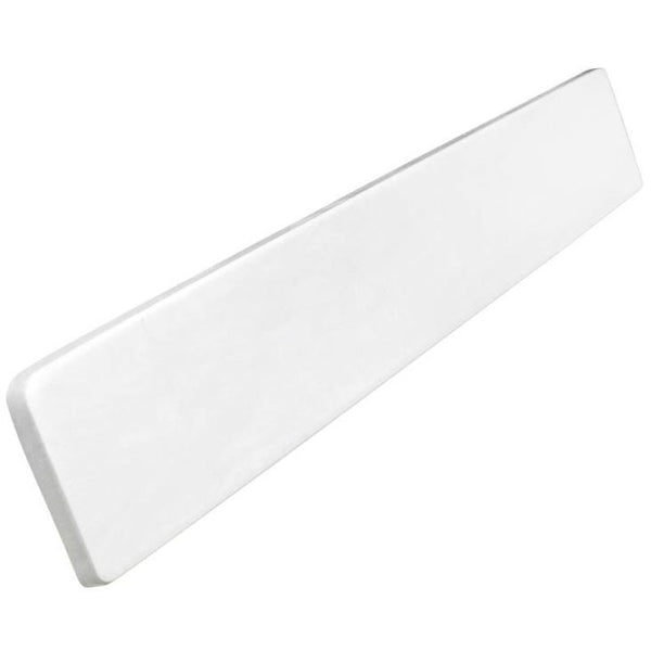 "Foremost WS22R Cultured Marble Right Sidesplash, 22"", White"