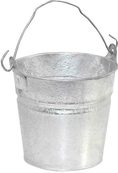 Behrens 1202 Hot Dipped Steel Water Bucket, 2 Quarts