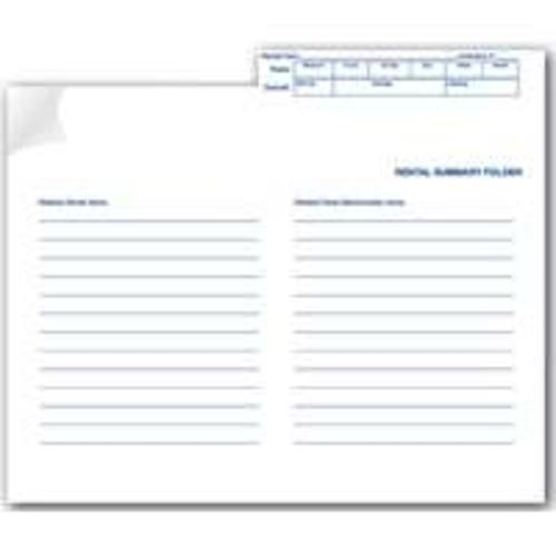 Centurion GF 1020 Rental Summary Folder - White