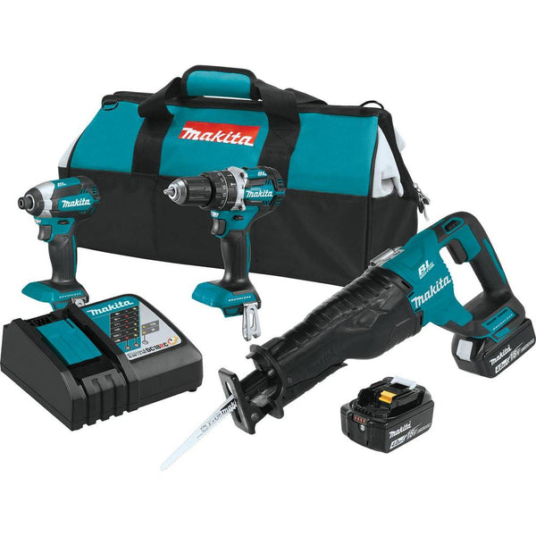 Makita XT328M LXT Lithium-Ion Brushless Cordless Combo Kit, 3 Piece, 18 V