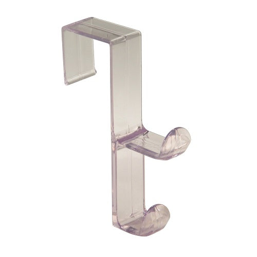 InterDesign 16100 Over The Door Double Hook, Clear