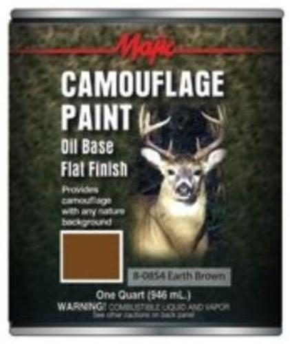 Majic 8-0854-2 Camouflage Paint, 1 Quart, Earth Brown