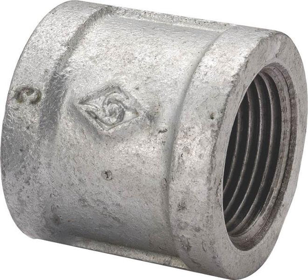 Worldwide Sourcing 21-1/2G Galvanized Malleable Coupling, 1/2""