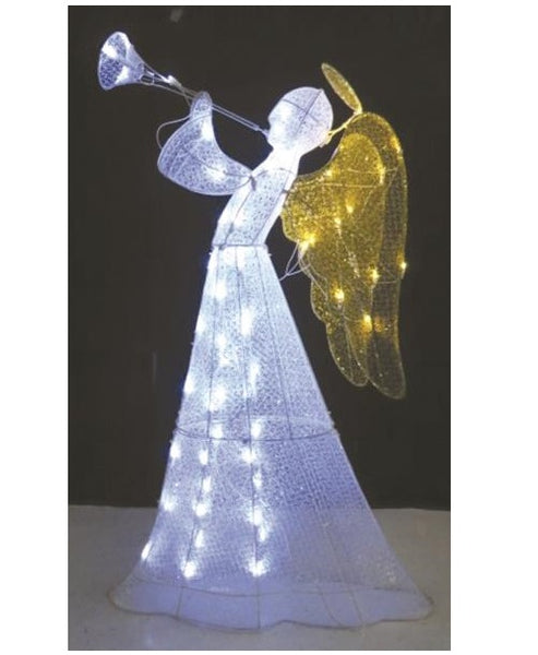 Santas Forest 58005 Angel Mesh Christmas Yard Decorations, 48""
