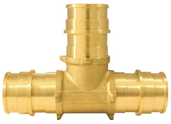 Apollo EPXT345PK Pex-A Pipe Tee, Brass, 3/4""