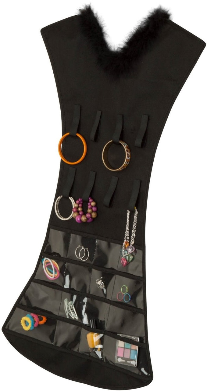 Honey-Can-Do SFT-03618 Dress Jewelry Organizer, Black