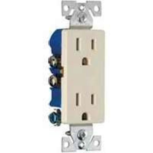 Cooper Wiring 1107A Standard Grade Straight Blade Receptacles, 15-Amp, 125-Volt