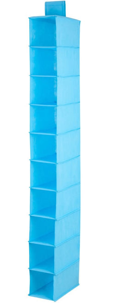 Honey-Can-Do SFT-02821 Shelf Hanging Vertical Closet Organizer, Ocean Blue