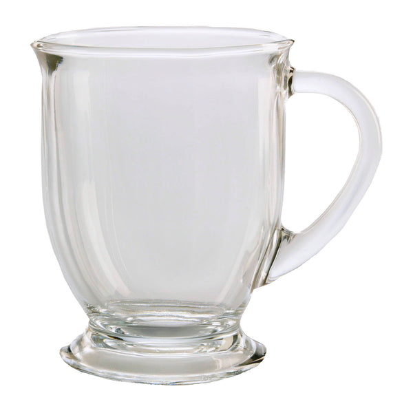 Anchor Hocking 83045A Cafe Mug, 16 Oz., Crystal