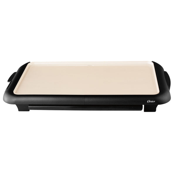 "Oster CKSTGRFM18W-ECO Dura Ceramic Griddle with Warming Tray, 10""X18"""