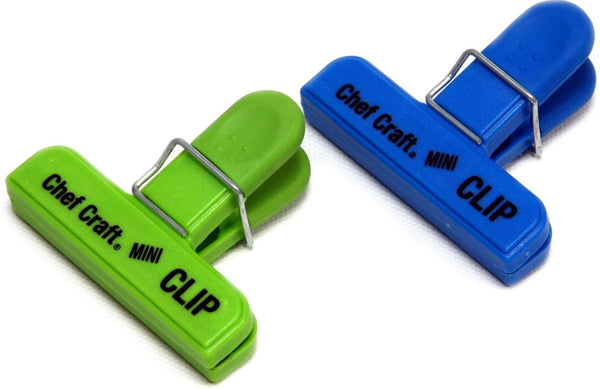 Chef Craft 21806 Mini Bag Clip, Green & Blue