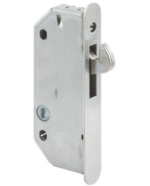 Prime Line E 2171 Sliding Door Mortise Lock, Plated Steel