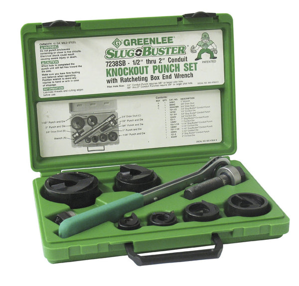 Greenlee 7238SB Knockout Set Slugbuster 1/2-2""