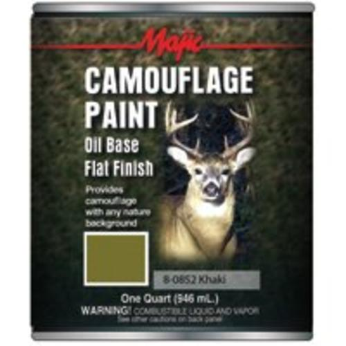 Majic 8-0852-2 Camouflage Paint, Khaki, Oil Based, One Quart