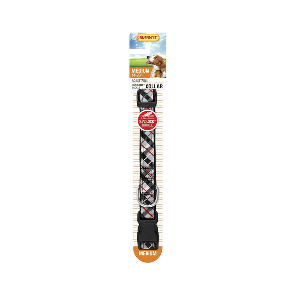 Westminster Pet 7N39747 Ruffin' It Plaid Ribbon Dog Collar, Assorted Color, 14 - 20""