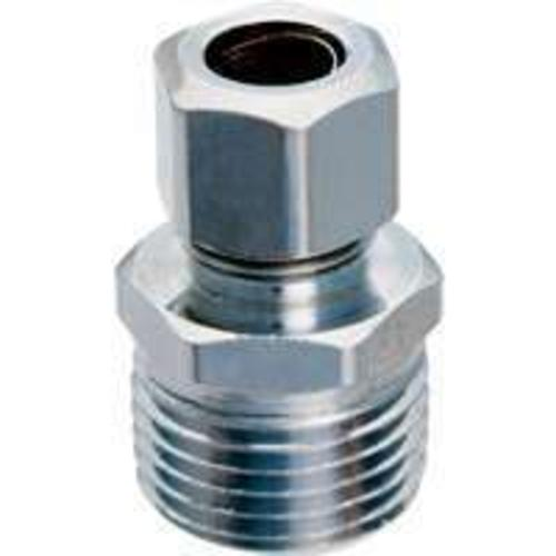 "Plumb Pak PP74PCLF Water Supply Straight Connector, Chrome, 3/8"" x 1/2"""