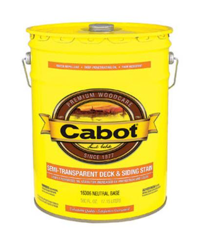 Cabot 140.0016306.008 Semi Transparent Deck & Siding Stain