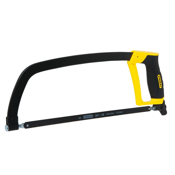 Stanley STHT20139L Solid Frame Hacksaw With Rubber Grip, 12""