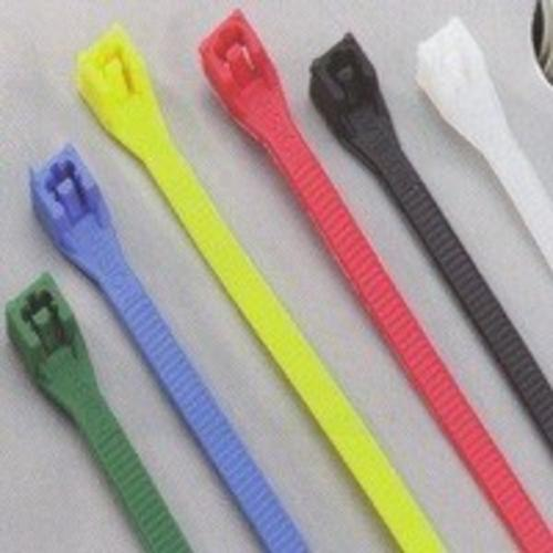 "Calterm 73242 Assorted Color Cable Tie, 8"", Pack-100"