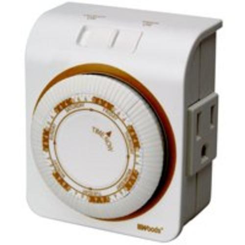Woods 50002  Indoor 7-Day Heavy Duty Mechanical Timer, 6 On/Off per Day
