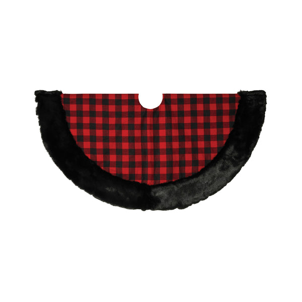 Worldwide Sourcing 2429700 Christmas Tree Skirt, Plaid, 48""