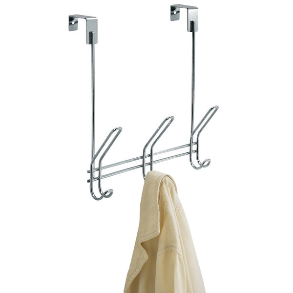 InterDesign 43912 Classico Over-The-Door Rack 3, Chrome