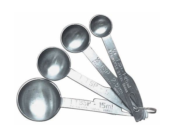 Progressive GT3474 Stainless Steel Measuring Spoon Sets, 4 Piece