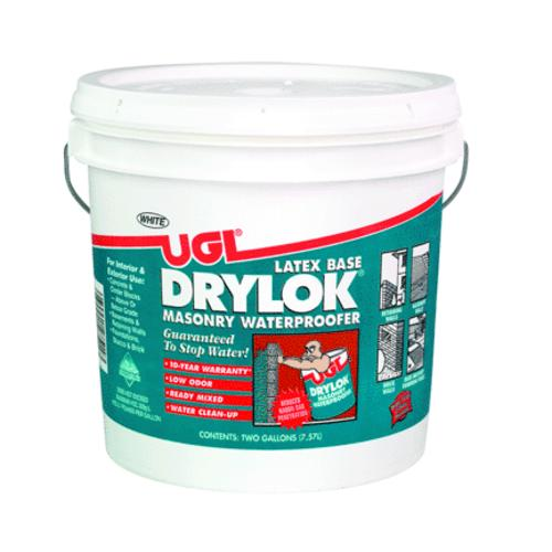 Drylok 27514 Masonry Waterproofer Latex, White, 2 Gallon