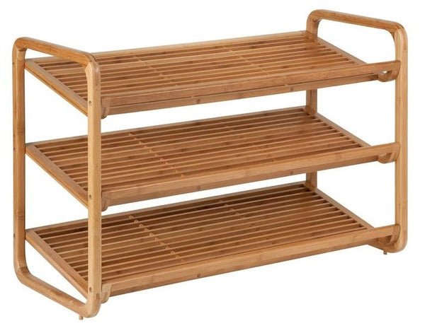 Honey Can Do  SHO-01599 3-Tier Deluxe Bamboo Shoe Storage Rack