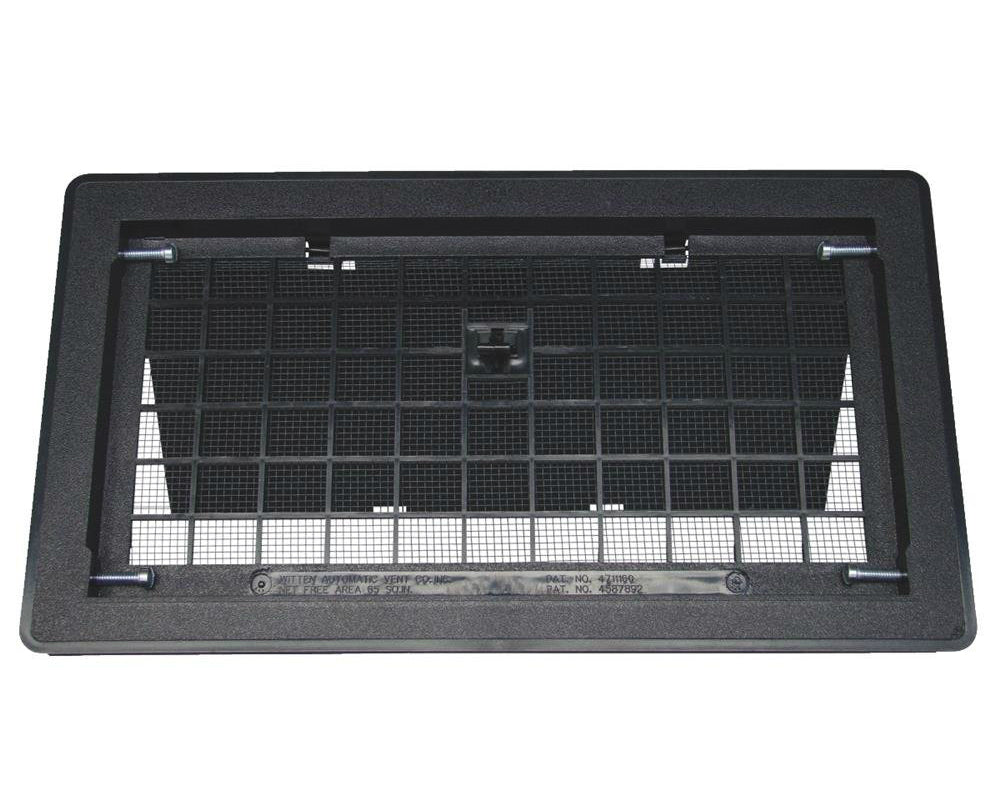 Witten 500BL Manual Foundation Vent With Damper, Black