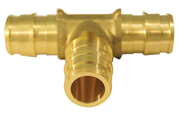 Apollo EPXT1210PK Pex-A Pipe Tee, Brass, 1/2""