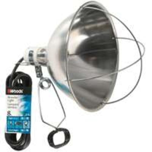 Coleman Cable 0167 Sjew Brooder Lamp, 18/2 X 8 Ft, 250 W, 125 Volt