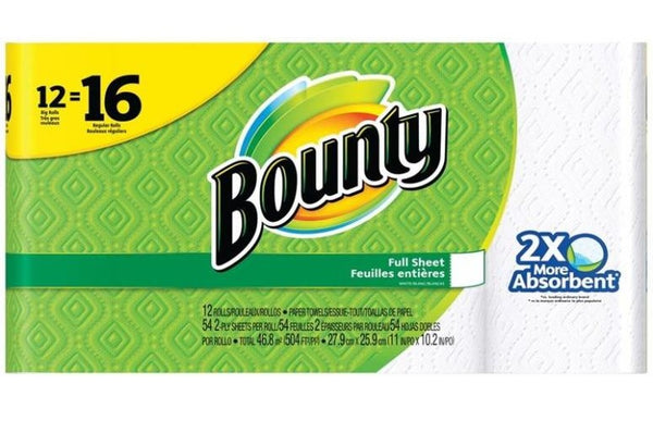 Bounty 74846 Paper Towels, White