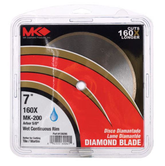 MK Diamond 167008 Continuous Rim Diamond Blade, 7""
