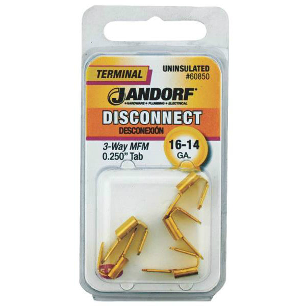 Jandorf 60850 Uninsulated 3 Way Disconnect Terminal, 16-14 Gauge AWG