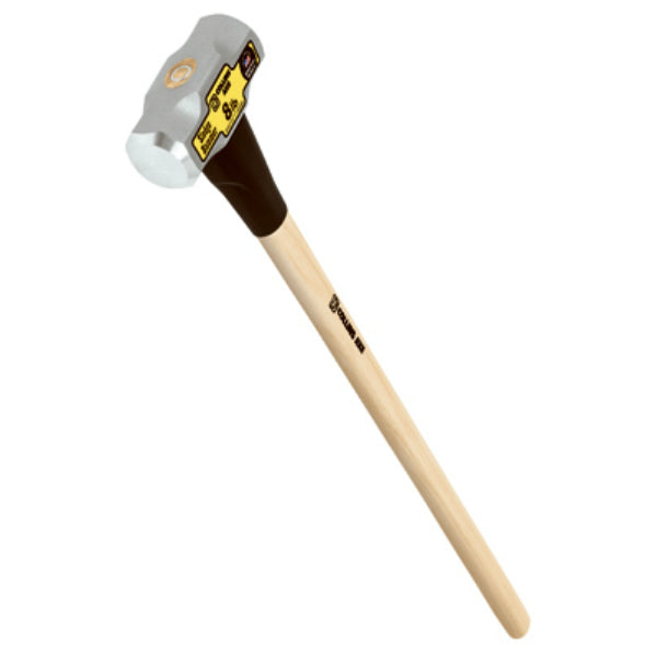 "Collins MD8H-C Double Face Sledge Hammer with 36"" Hickory Handle, 8 Lb Head"