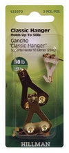Hillman 122272 Classic Picture Hangers with 2-Nails, 50 Lb, 2-Pack