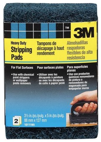 3M 10111 Heavy-Duty Replacement Stripping Pads, 2-Pack
